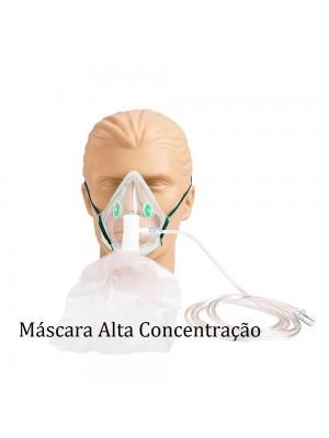 MASCARA OXIGENIO ALTA CONCENTRAÇÃO ADULTO